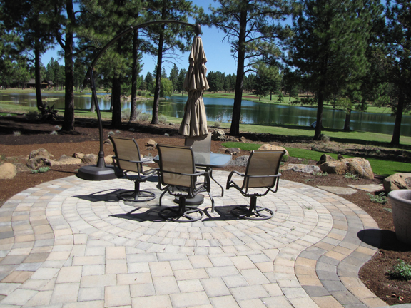 Paver patio.